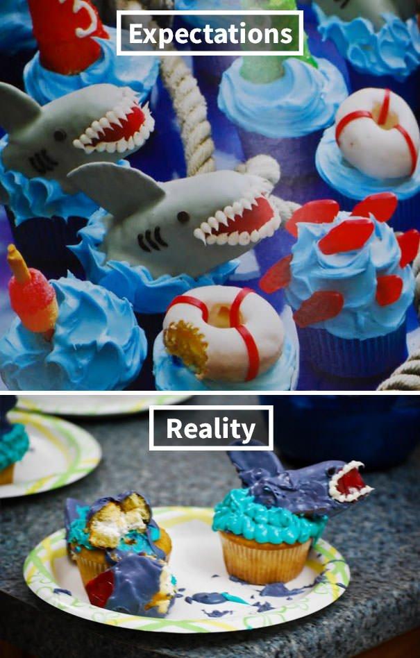 Shark Cupcake Fail