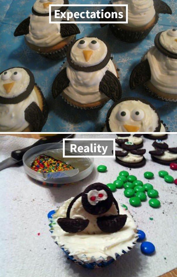 Zombie Penguin Cupcakes