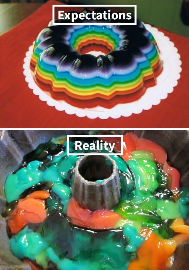 Rainbow Jello Attempt