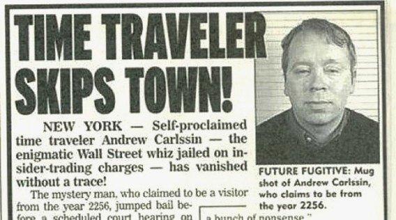 「インサイダー取引で逮捕されたタイムトラベラー」の画像検索結果