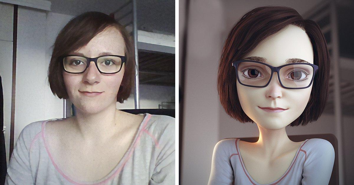 a.png?resize=412,232 - Un artiste transforme des inconnues en personnages 3D, et le résultat est incroyable