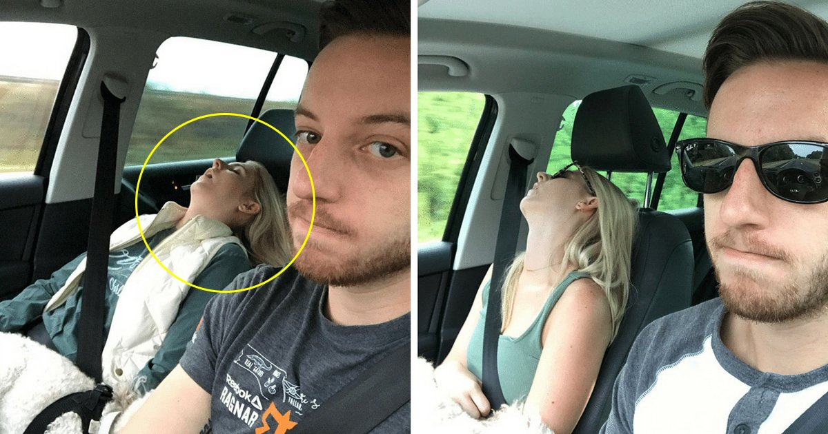 agga 2.jpg?resize=412,275 - Husband Captures Hilarious Moments Of Every Road Trip He Has Taken With His Wife