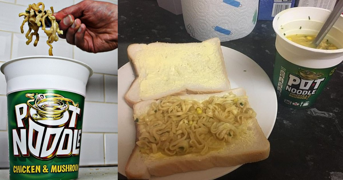 pot noodle sandwich