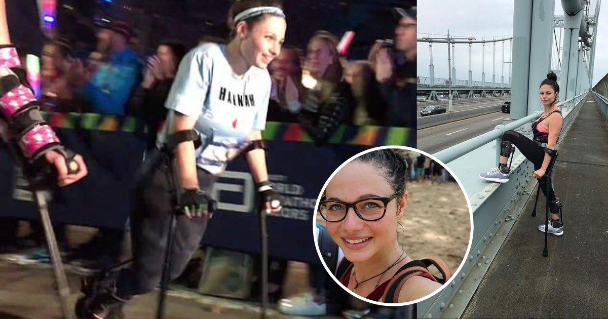 d6 2.png?resize=412,232 - Une femme laissée paralysée alors qu'elle s'échappait d'un agresseur sexuel après de violentes agressions, termine le marathon avec des béquilles après 10 heures