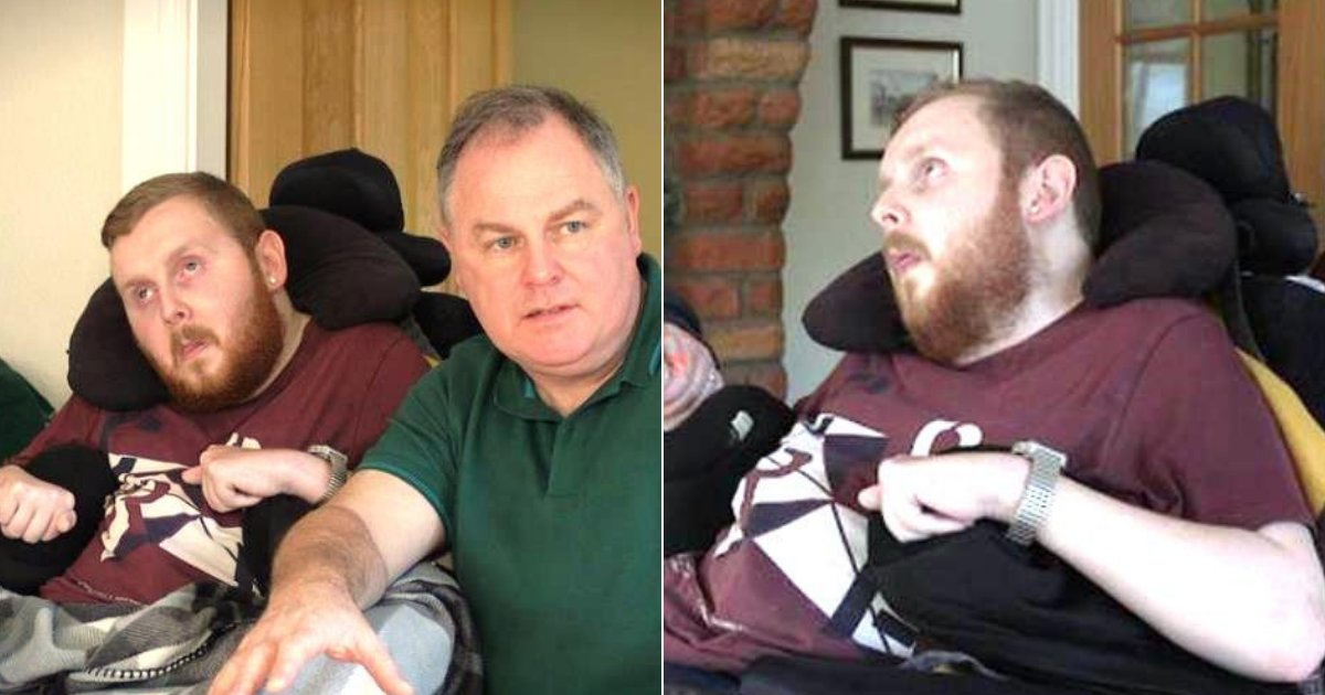 declan7.png?resize=1200,630 - Man Who Can't Talk, Eat, Move Or See Was Checked To Determine If He's Disabled Enough For Benefits