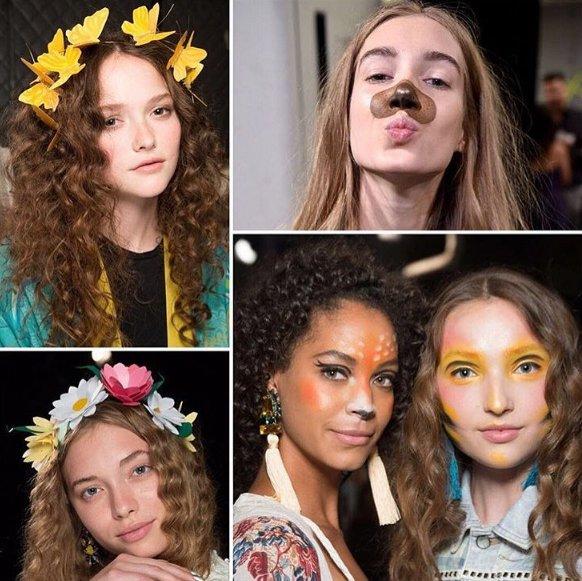filtres snapchat irl desigual 2.png?resize=412,232 - Ces mannequins ont défilé avec les filtres Snapchat incrustés sur leurs visages.