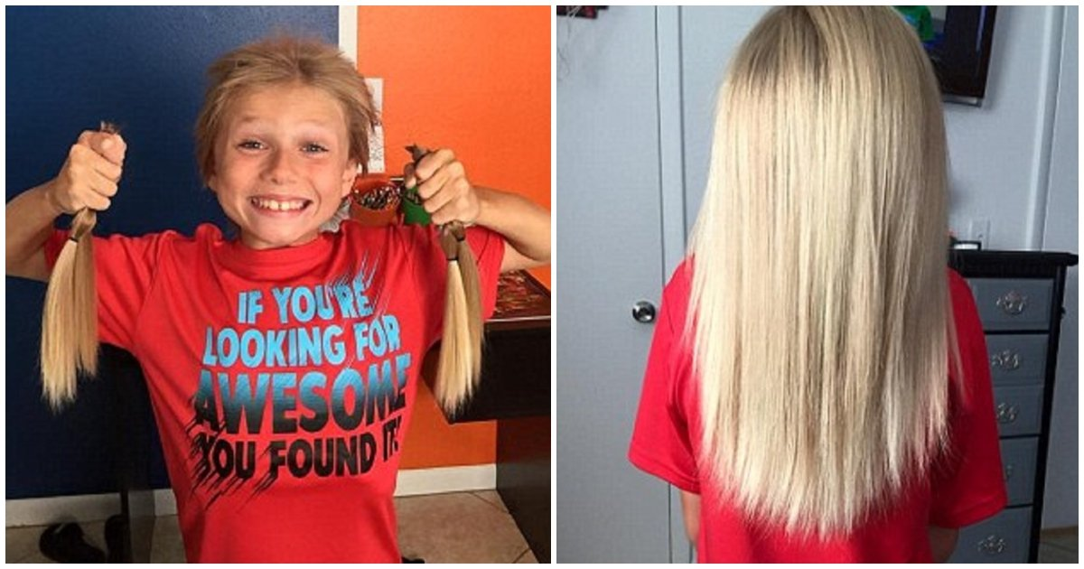hair 2.jpg?resize=412,232 - Despite Suffering From Taunts, This Boy Grew His Hair Long To Make Wigs For Child Cancer Patients