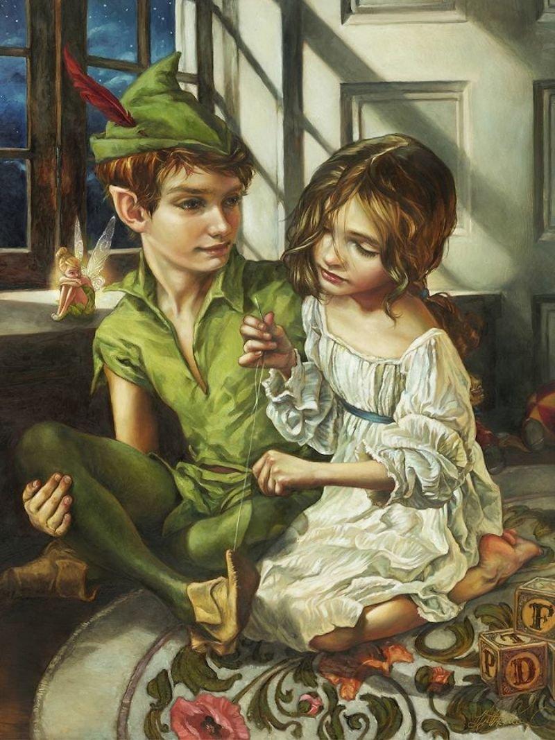 heather theurer peintures personnages disney 12.jpg?resize=1200,630 - Elle crée de sublimes peintures à l'huile d'après les personnages Disney.