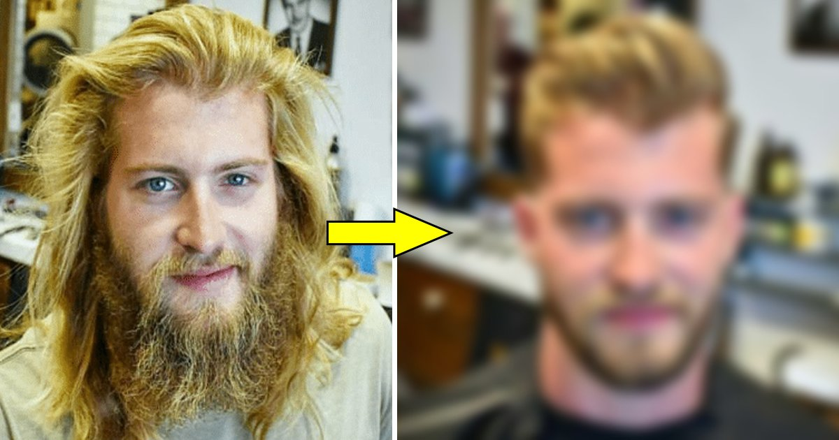 hhh.jpg?resize=412,232 - Guy Gets A Haircut After A Very Long Time. Looks Like Totally Different Person After That