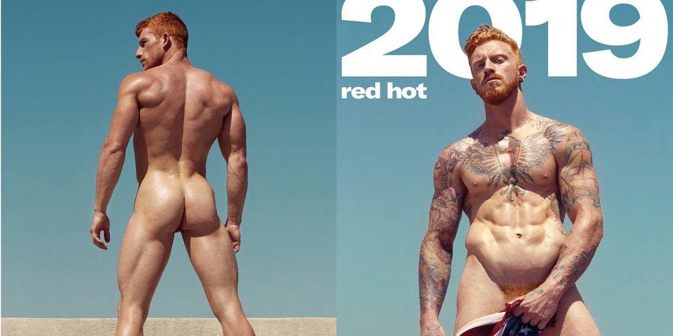 img 5be0db9e9aee9.png?resize=412,232 - 「2019 Red Hot 紅髮猛男裸體月曆」居然連下面的毛也是紅的...超大尺度月曆你一定要收!
