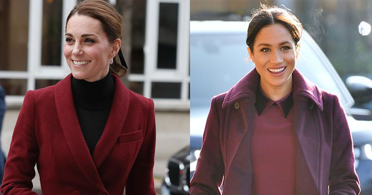 kate and meghan wore a dress in a very similar colour on the same day as they carried out separate engagements in london.jpg?resize=412,232 - Kate et Meghan portaient une robe de couleur très semblable le même jour à Londres