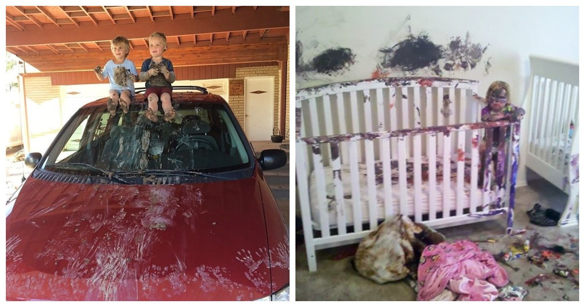 kids1.jpg?resize=1200,630 - 30 Hilarious Reminders Of Why You Shouldn't Leave Your Kids Alone