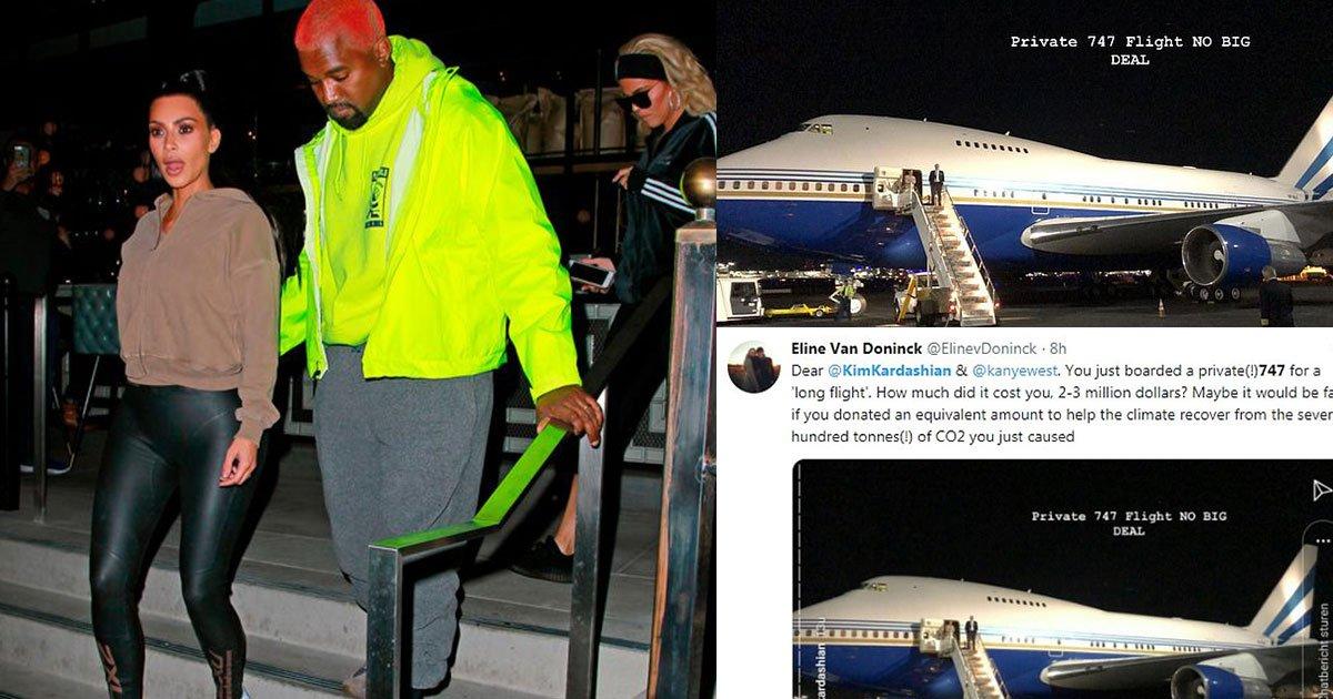kim kardashian and kanye west slammed for taking a private boeing 747.jpg?resize=412,232 - Kim Kardashian And Kanye West Slammed For Taking A Private Boeing 747