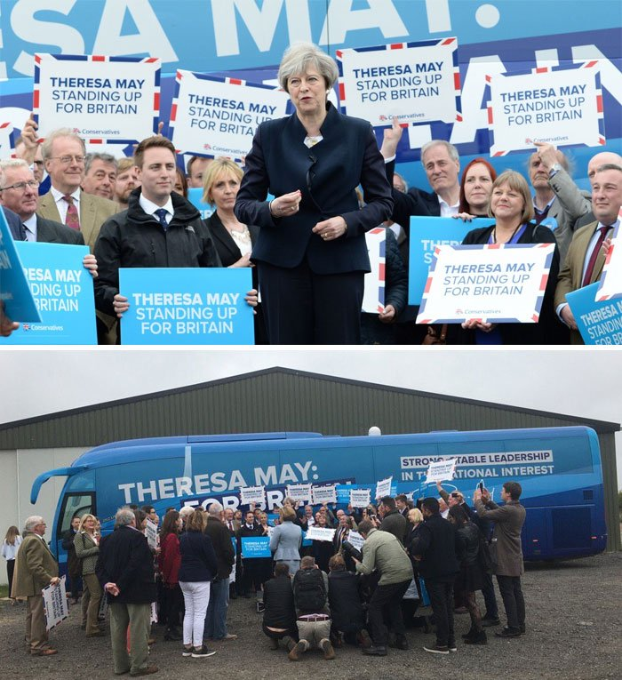 Conservative Leader Theresa May Launches The Party