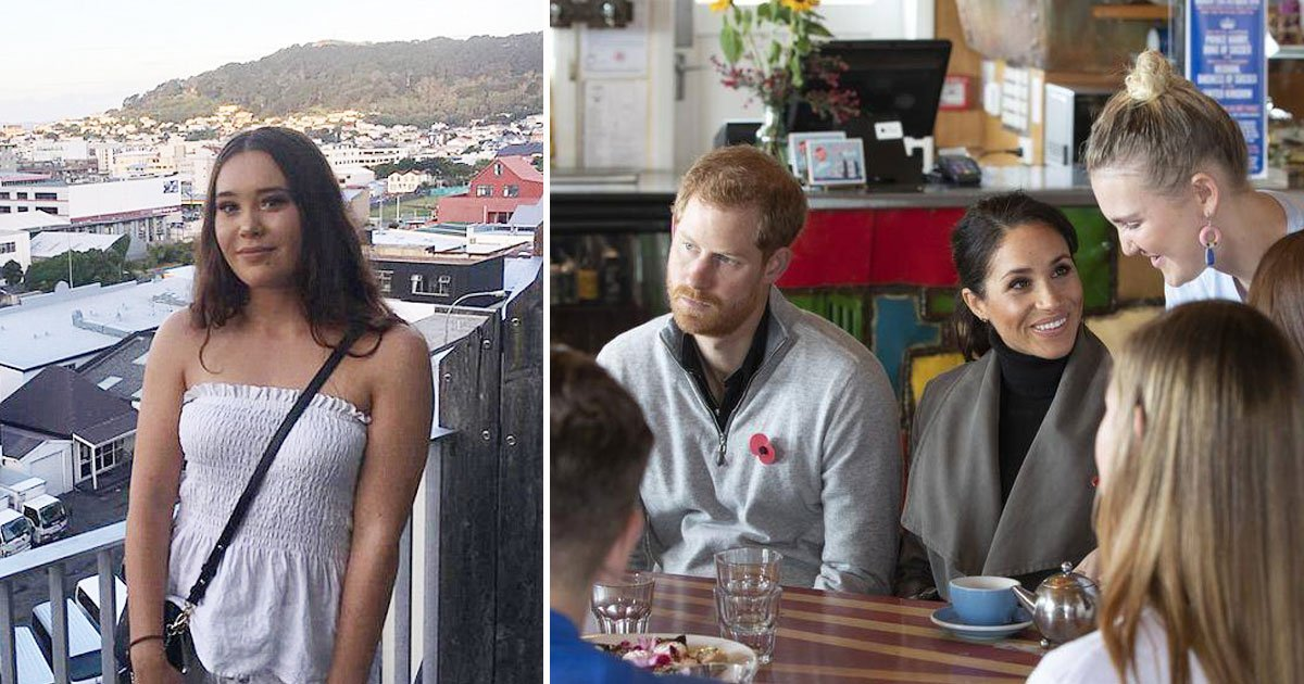 meghan harry in cafe.jpg?resize=1200,630 - Prince Harry Offers A Job To A Student During His Visit To A Café In New Zealand