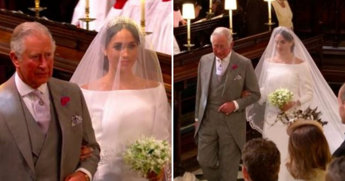 meghan5.png?resize=636,358 - Prince Harry Reveals Why Charles Walked Meghan Markle Down The Aisle