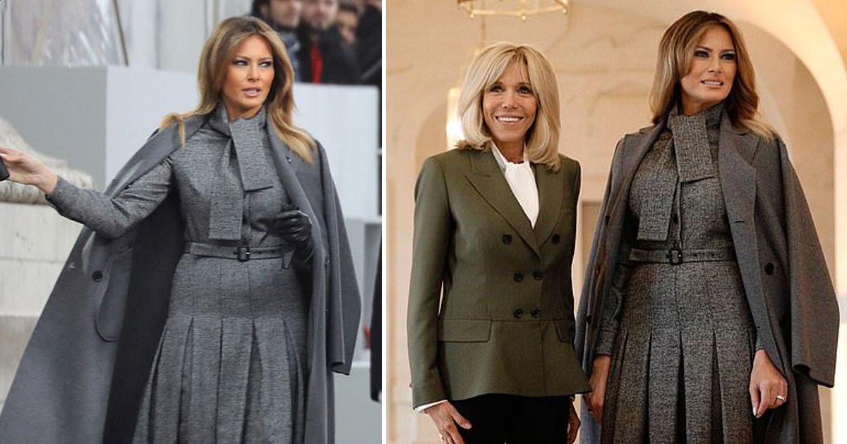 melania trump.jpg?resize=412,232 - Melania Trump Looks Elegant At Armistice Commemorations In Paris