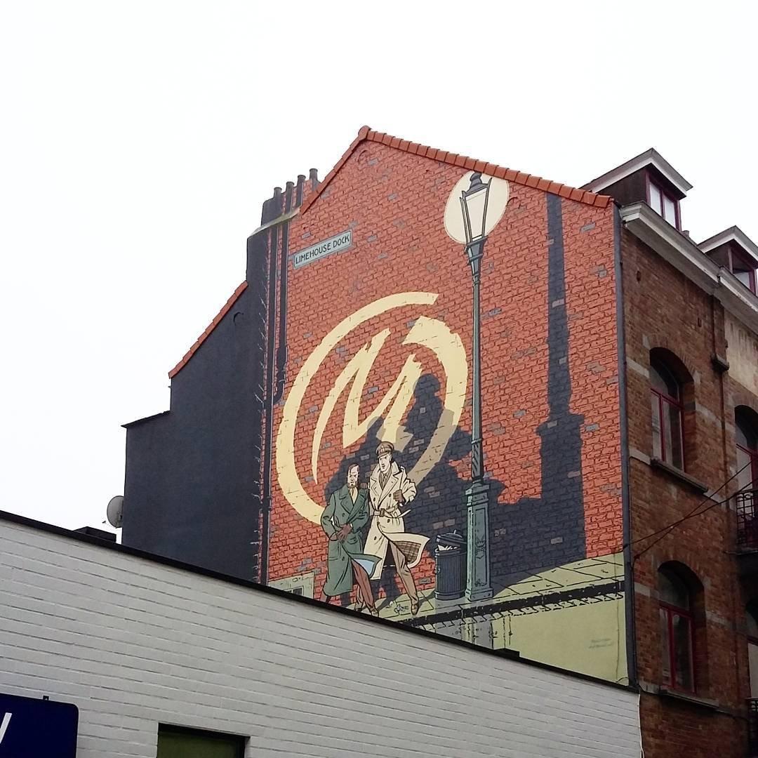 peintures murales hommage bande dessinee belge isa de bxl.jpg?resize=1200,630 - Bruxelles : à la découverte des fresques murales hommages aux héros de bandes-dessinées.