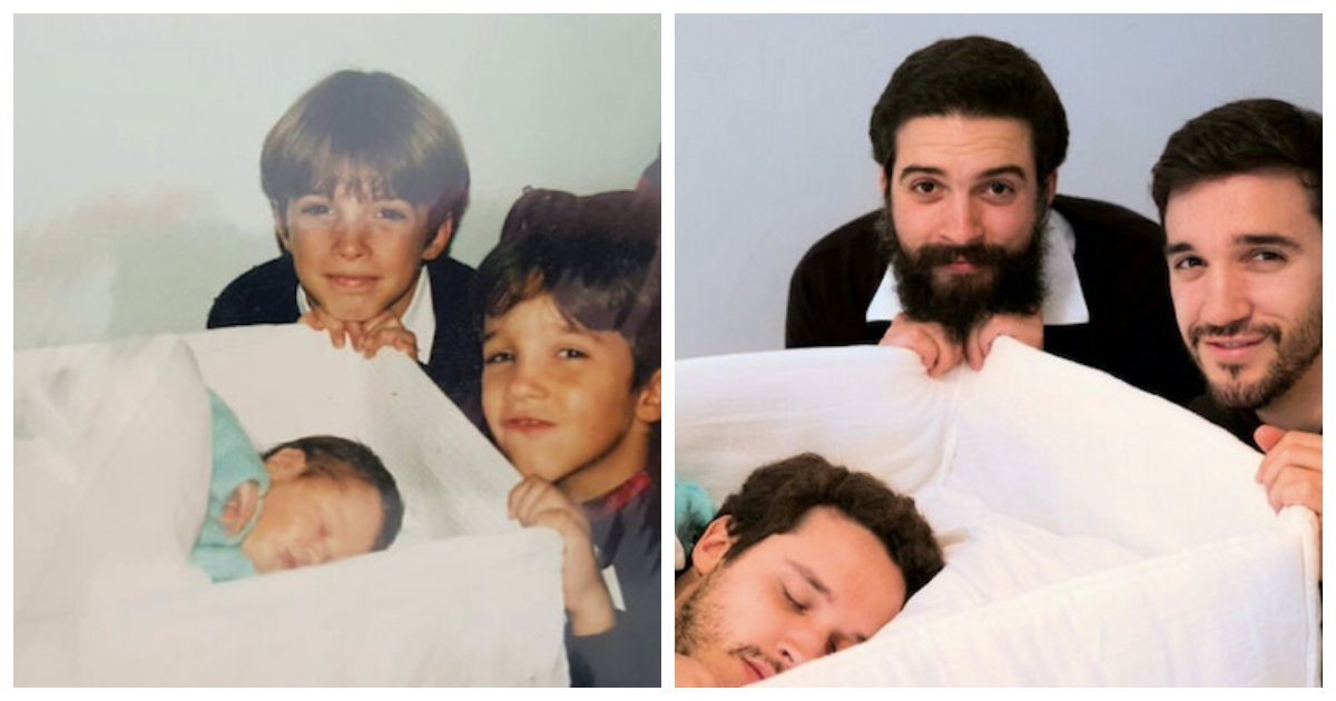 recreate1.jpg?resize=1200,630 - 35 Of The Best Recreations of Family Photos