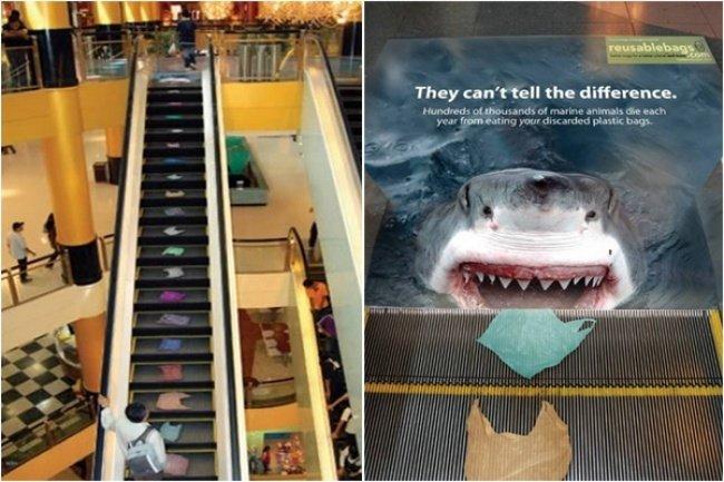 shar.jpg?resize=1200,630 - 16 Extraordinárias propagandas feitas em escadas rolantes