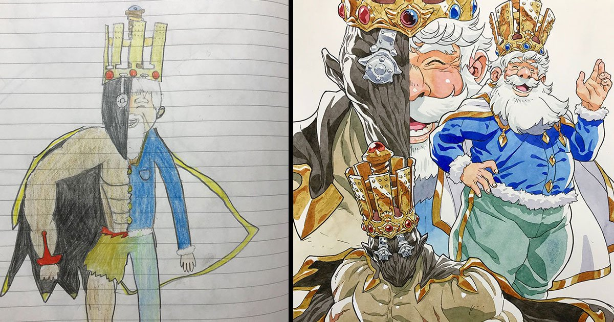 untitled 1 100.jpg?resize=1200,630 - Dad Turns His Sons' Doodles Into Anime Characters, And The Results Will Surprise You