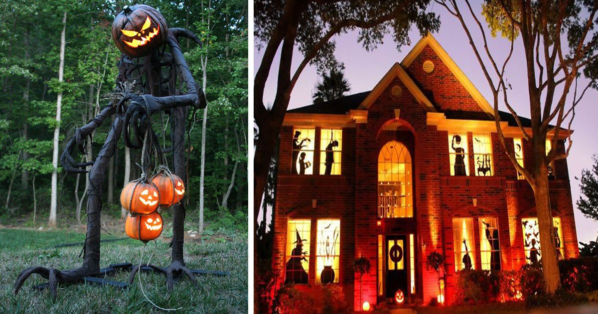 untitled 1 2.jpg?resize=732,290 - People Surprised Their Neighbors With Their Amazing Yet Scary Halloween Decorations