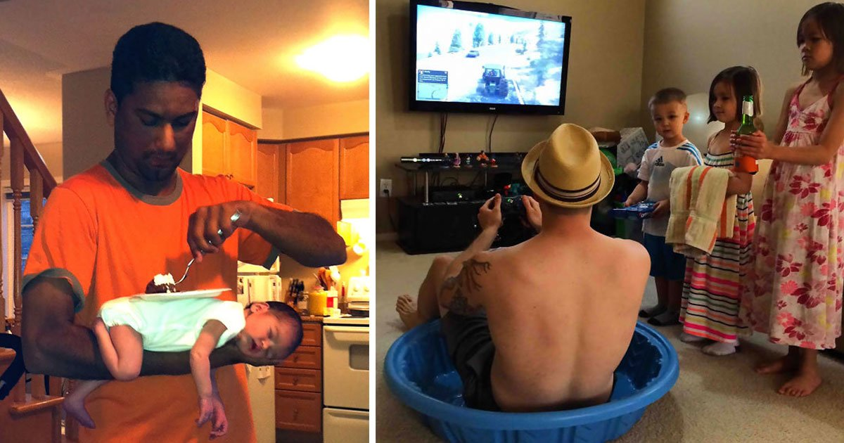 untitled 1 51.jpg?resize=412,275 - Funny Photos Show Why You Should Not Leave Kids Alone With Their Dads