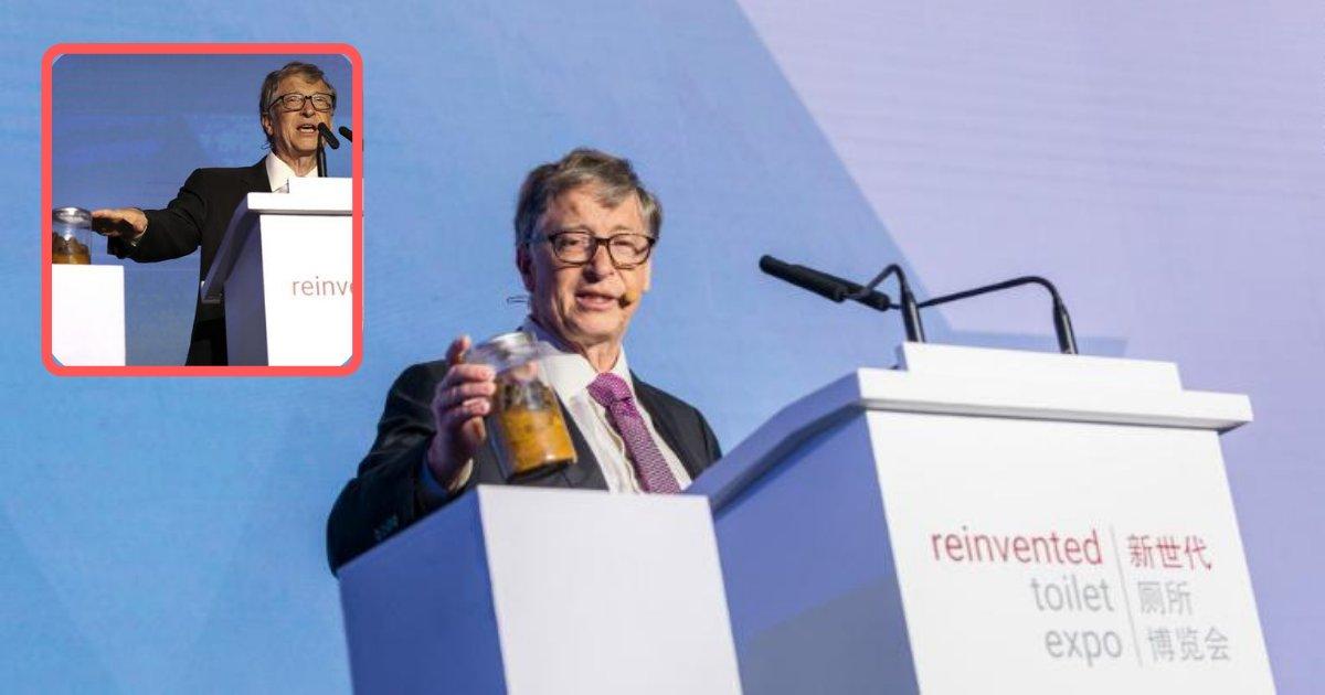 untitled design 2.png?resize=412,232 - Bill Gates apporte un pot d'excréments avec lui sur scène