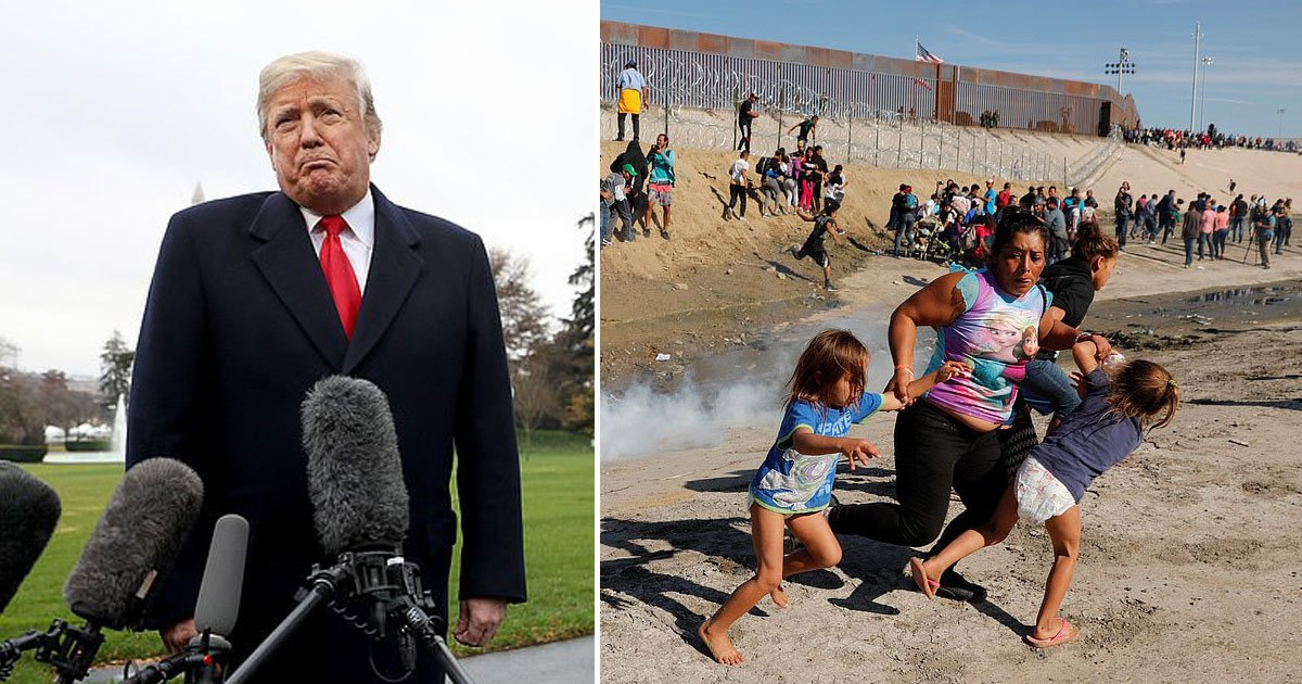 us mexico.jpg?resize=300,169 - President Trump Denied Using Tear Gas On Children