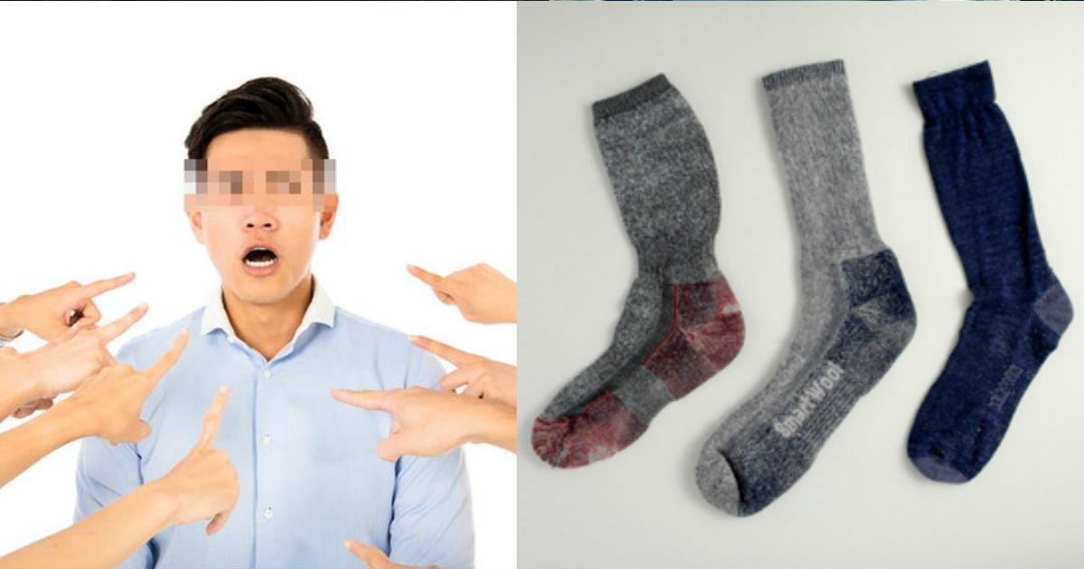 """3 124.jpg?resize=1200,630 - 毎晩""""履いた靴下の臭い""""を嗅いだ結果、男性は…!!??"""