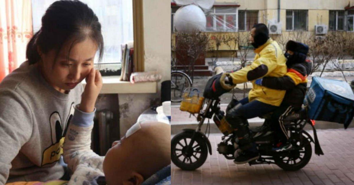 4 190.jpg?resize=1200,630 - 4歳の息子を連れて配達するお父さん配達員。その理由には涙が…