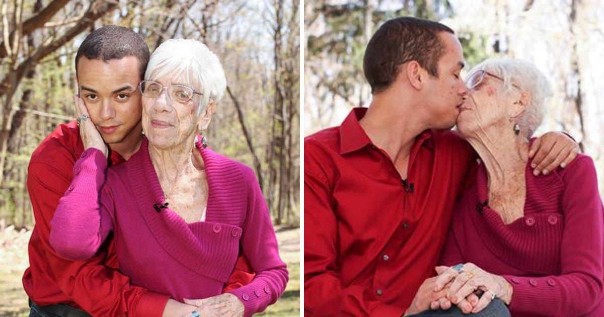 """9 9.jpg?resize=1200,630 - """"60살 차이도 OK""""... 91살 할머니와 사랑에 빠진 청년 (영상)"""