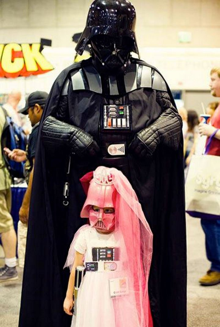 16 Funny Dads - This dad wins the group costume of the year. Darth vader and his daughter...awww!
