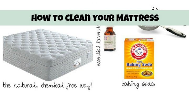 16 Cleaning Tips and Hacks - Clean your mattress with natural products.