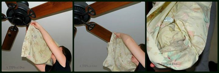 35 House Cleaning Tips - Cleaning your ceiling fan.
