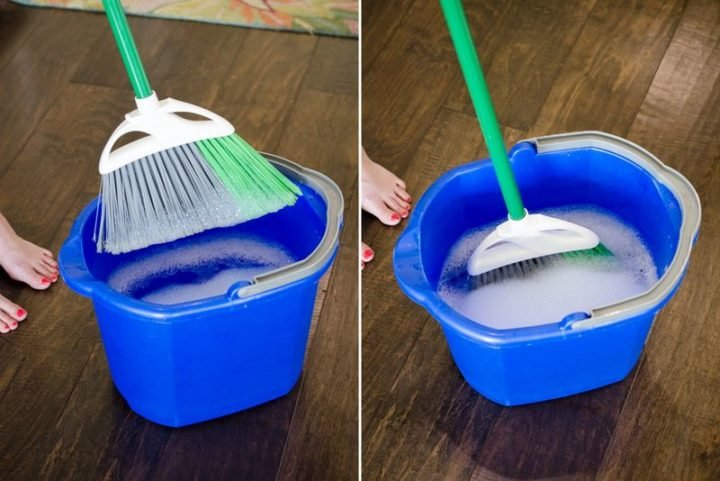 35 House Cleaning Tips - Cleaning your broom.