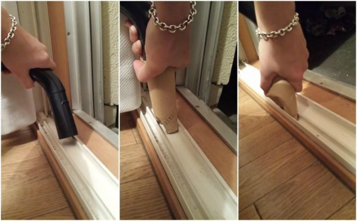 35 House Cleaning Tips - Making a DIY vacuum attachment to clean small spaces.
