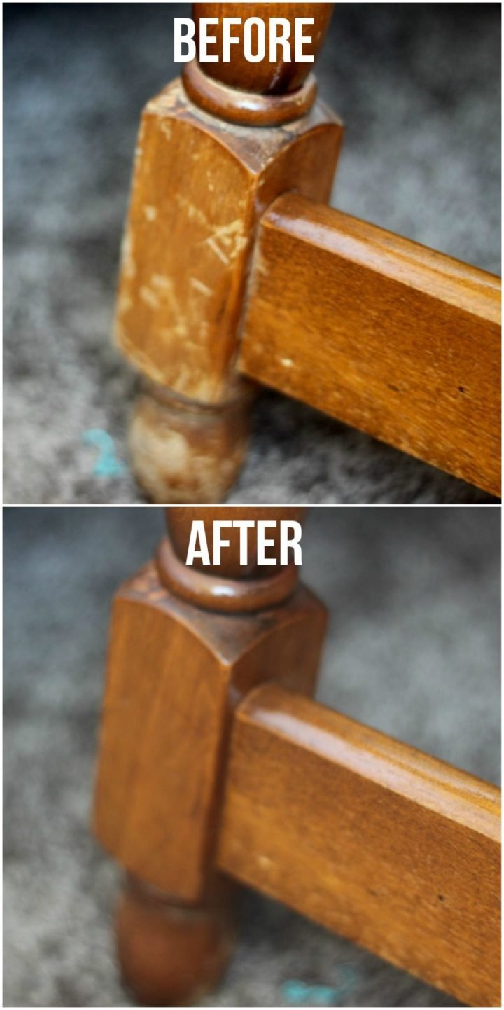 35 House Cleaning Tips - Remove scuff marks from wooden furniture with oil and vinegar.