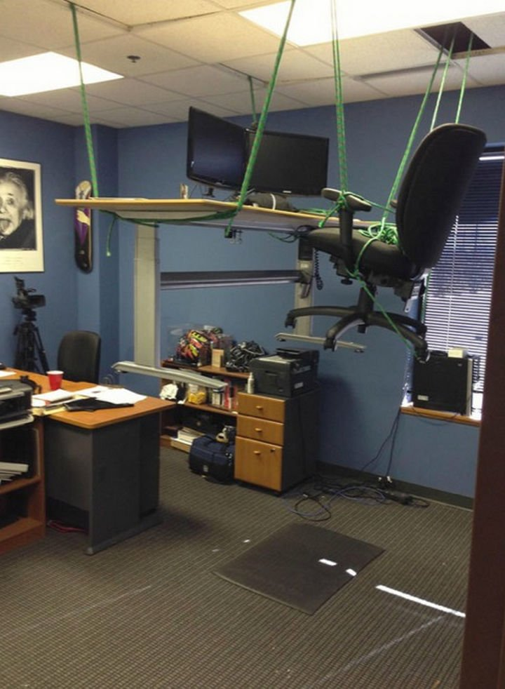 25 Office Pranks - If your co-worker is a thrill seeker.