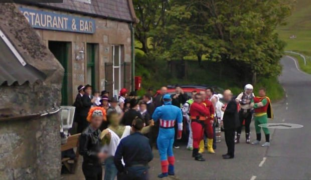 25 Weird Things Found on Google Maps - Is there superhero convention I don