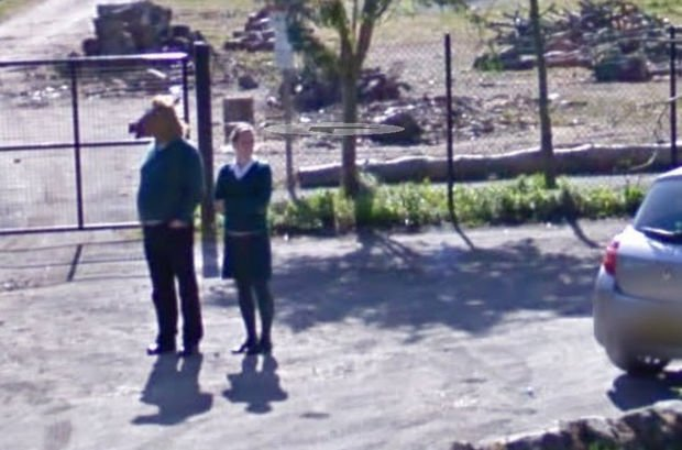25 Weird Things Found on Google Maps - Just another day with the horse-man.