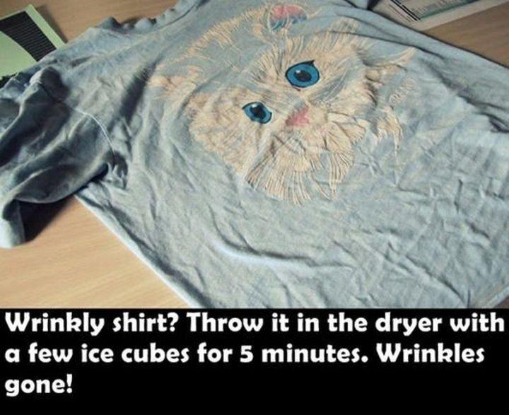 26 Simple Life Hacks - No more wrinkled shirts.
