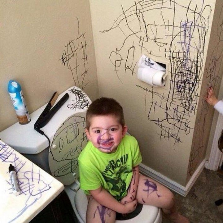 33 Reasons to Be Happy If You Are Not a Parent - You get to decide when to paint your walls.