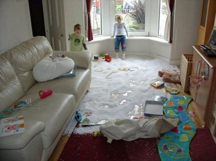 33 Reasons to Be Happy If You Are Not a Parent - Tidying up the living room before guests come over will only take minutes.