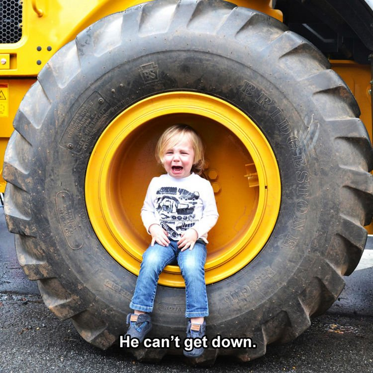 37 Photos of Kids Losing It - He can