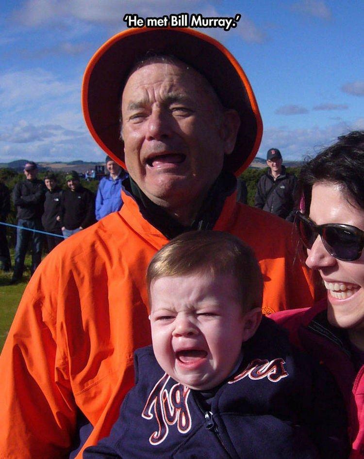 37 Photos of Kids Losing It - He met Bill Murray.