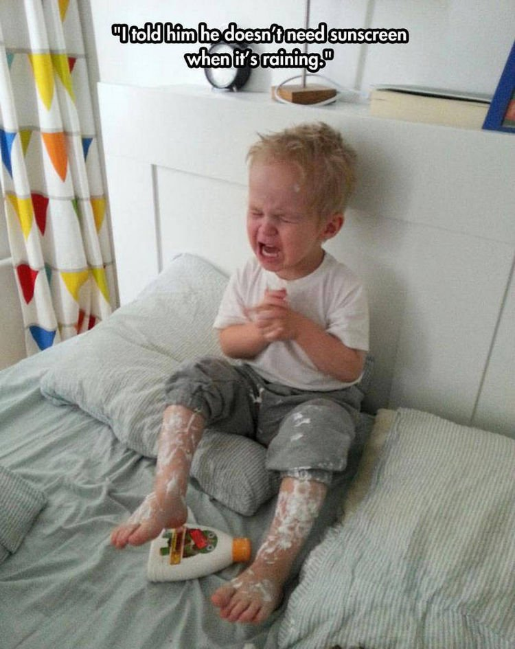 37 Photos of Kids Losing It - I told him he doesn