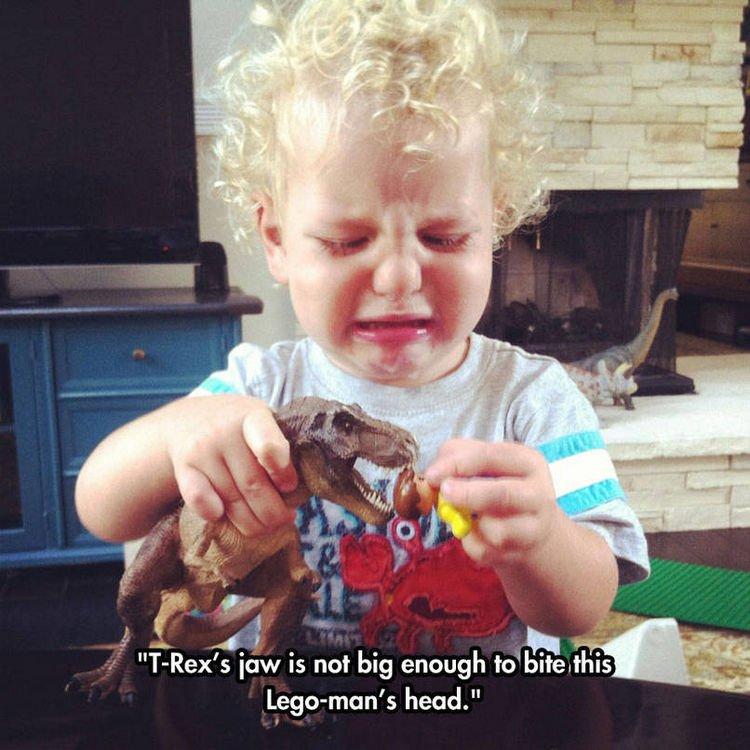 37 Photos of Kids Losing It - T-Rex