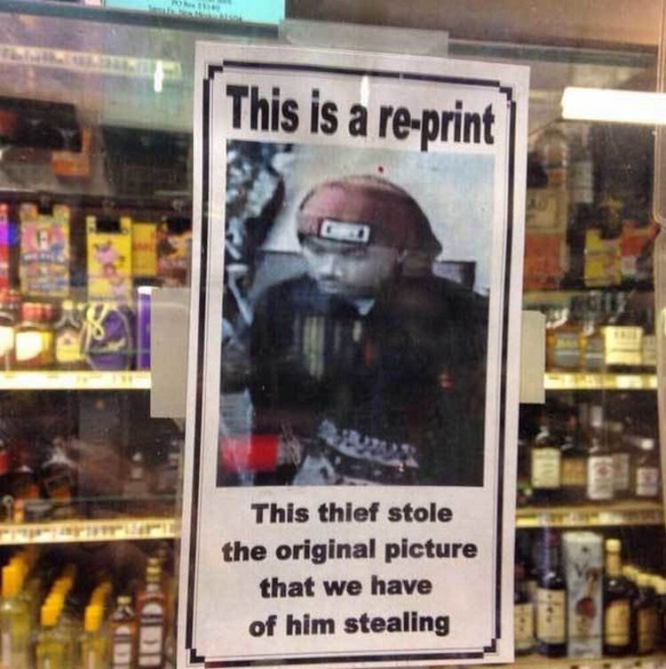 44 Incredibly Funny Pictures That Will Make You Smile - This thief doesn