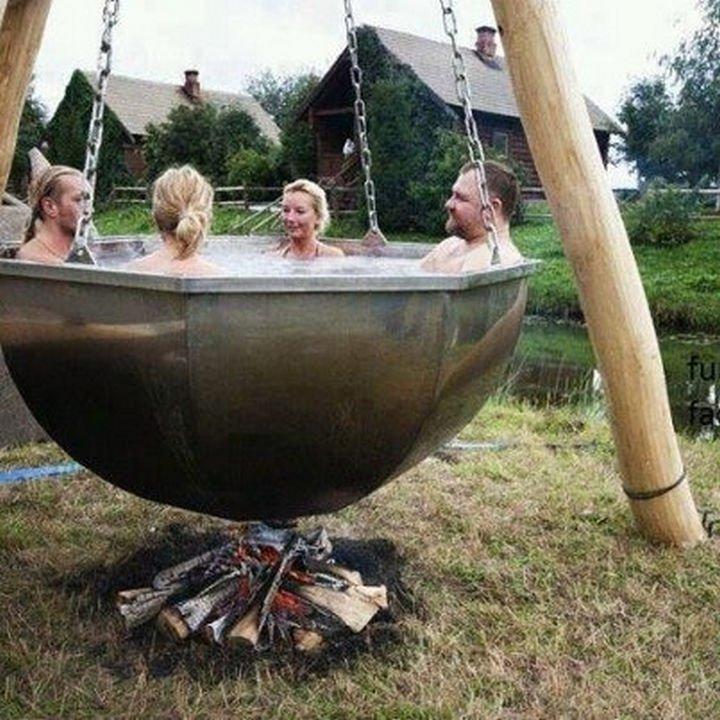 51 Crazy Life Hacks - An energy-efficient hot tub.